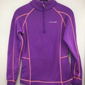 Avalanche Jacket Quarter Zip Purple Extra Small